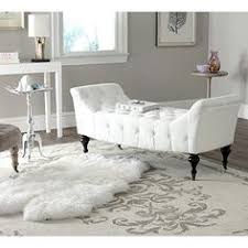 White Leather Benches White Tufted Leather Bench Crystal Modern Furniture Designer