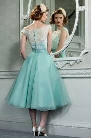 vintage inspired bridesmaid dresses retro vintage style lace organza tea length wedding prom formal