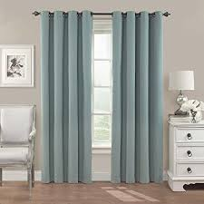 Eclipse Nursery Curtains Eclipse Nadya Solid Blackout Window Curtain Panel 95 Inch Smokey