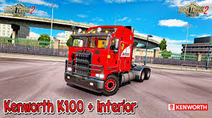 kenworth k100 kenworth k100 interior v1 0 1 26 x for ets 2 zagruzka mods