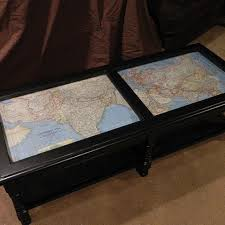 Personal World Map by Coffee Table Makeover With Antique Maps Coffee Table Makeover