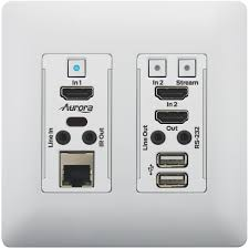 vlx tcw2h c wall plate 4k over ip aurora multimedia corp