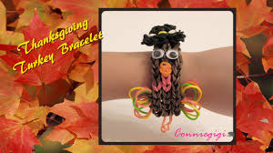 making a thanksgiving turkey how to make thanksgiving turkey rubber band rainbow loom bracelet