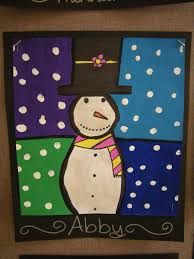 artolazzi warm cool snowmen paintings
