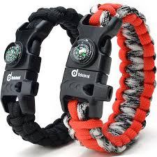 fire cord bracelet images Odoland paracord bracelet emergency survival cord 2 peak series jpeg