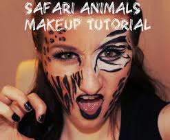 Tiger Halloween Makeup by Safari Animals A Makeup Tutorial Youtube