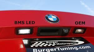 led license plate light upgrade for bmw burgertuning com