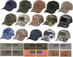 Military Flag Patch Military Low Profile Adjustable Tactical Operator Cap With