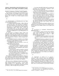 part ii other federal mass transportation statutes the federal