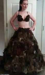 female pubic hair around the world designer sarah louise byran who made a dress from pubic hair reveals