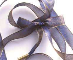 iridescent ribbon all about shoelaces blue gold iridescent ribbon shoelaces