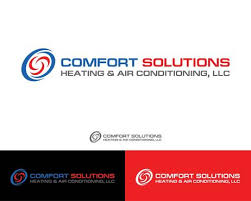 Comfort Solutions Heating Cooling Heating U0026 Air Conditioning Logo Zillion Designs