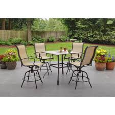 Bar Height Patio Set With Swivel Chairs Bar Height Patio Furniture With Swivel Chairs Outdoor Table And