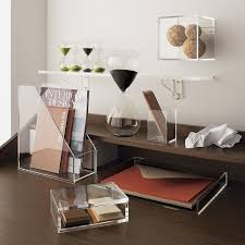 Acrylic Desk Organizers Office Desk Accessories At Home And Interior Design Ideas