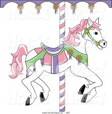 merry go round coloring pages clipart merry go round horse to color clipground
