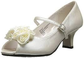 Flower Girls Dress Shoes - amazon com swea pea u0026 lilli u0027s peep toe dress shoe with