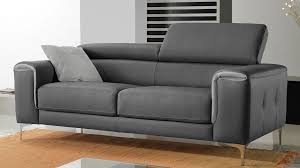 canapé cuir gris anthracite canape 2 places gris maison design wiblia com