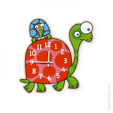 horloge chambre bébé horloge tortue déco chambre bébé et enfant série golo
