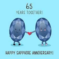 65 wedding anniversary 65th wedding anniversary card sapphire anniversary 761856141063 ebay