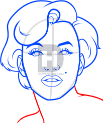 how to draw marilyn monroe easy step by step stars people free
