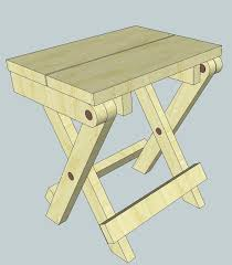Free Wood End Table Plans by More Folding Stool Plans Woodworking For Mere Mortals Madera