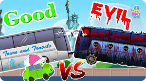 luxury bus war good vs evil scary street vehicles halloween