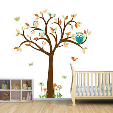 Owl Wall Decor by Owl Tree Wall Decal Gender Neutral Wall Decal Owl Tree Wall