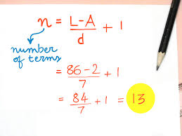 how to find a number of terms in an arithmetic sequence 3 steps