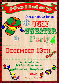ugly sweater christmas party invitations u2013 gangcraft net