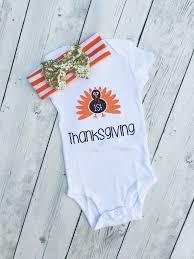 My 1st Thanksgiving My 1st Turkey Day Turkey Onesie For Girls Thanksgiving