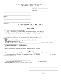 General Power Of Attorney Form Florida Pdf by Free Florida Eviction Complaint Pdf Template Form Download