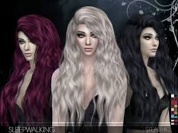 custom hair for sims 4 the sims resource sleepwalking female hair by stealthic sims 4