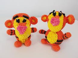 tigger tiger winnie pooh rainbow loom bands amigurumi