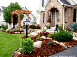 Simple Landscape Ideas by Landscaping Ideas For Front Yard On A Budget Amys Office