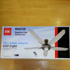 Ceiling Fan Led by Kdk R60vw Ceiling Fan With Led Light Furniture U0026 Home On Carousell