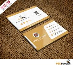 Photography Business Cards Psd Free Download Restaurant Chef Business Card Template Free Psd Psdfreebies Com