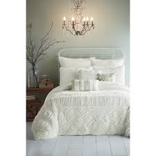 Bedroom Nightstand Ideas Bedroom Enchanting White Ruffle Comforter For Bedroom Decoration