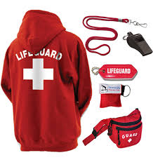 lifeguard hooded hoodie pullover sweatshirt unisex lifeguard equipment
