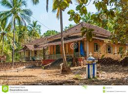 old colonial houses in goa india editorial photography image
