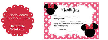 minnie mouse thank you cards free printable minnie mouse thank you cards mickey minnie