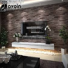 Faux Brick Interior Wall Covering Aliexpress Com Buy Modern Brown Beige Background Wall Coverings