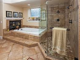master bedroom bathroom designs shower and bath tub with fireplace and a view how great it that