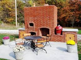 diy outdoor fireplace with pizza ovenfarmhouses u0026 fireplaces