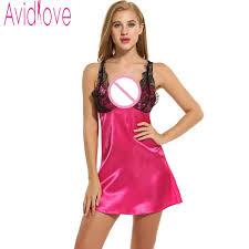 avidlove sleepwear satin sleep dress slip nightgown women