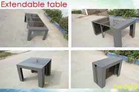 italian extendable dining table outdoor rattan furniture extendable dining table aluminum frame