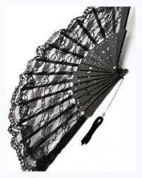black lace fan folding fans silk folding fan decor signed by artist
