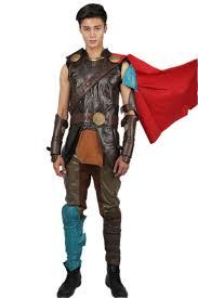 Thor Halloween Costumes Thor Ragnarok Thor Costume Black Pu Leather Sleeveless Cosplay