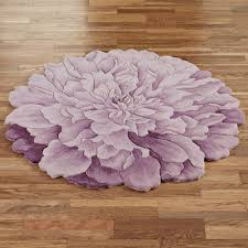 delia bloom flower shaped round rugs