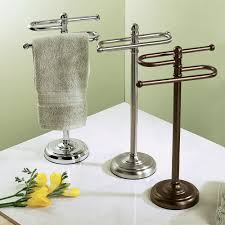 Towel Rack Ideas For Bathroom Colors Stylish Free Standing Towel Racks For Outstanding Bathroom Ideas