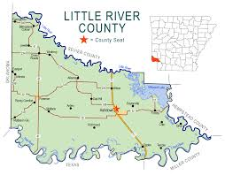 Map Of Rivers Little River County Map Encyclopedia Of Arkansas